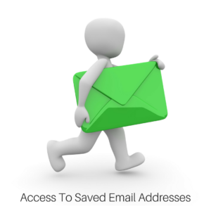 saved email addresses - online email panel